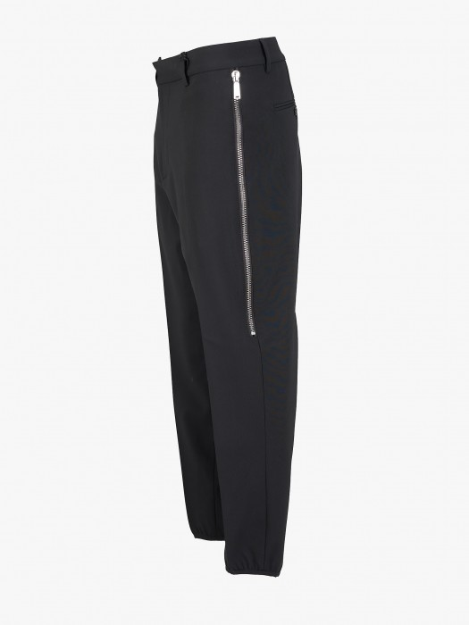 Dsquared2 worsted strech wool tapered brad trousers