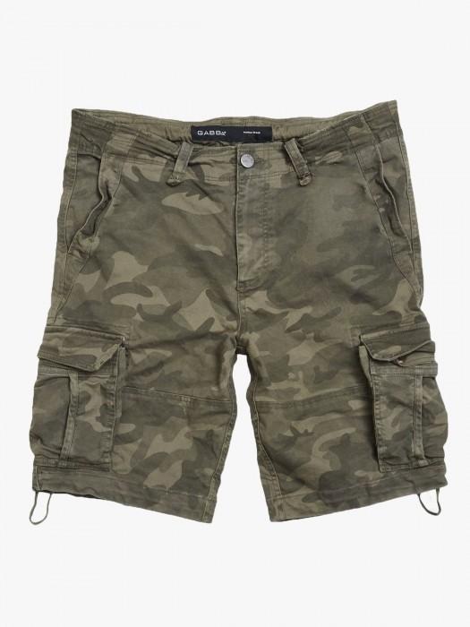 Gabba rufo cargo camouflage green shorts