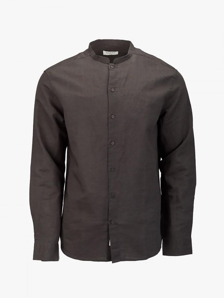Gabba hobart pirate black linen long sleeves shrt