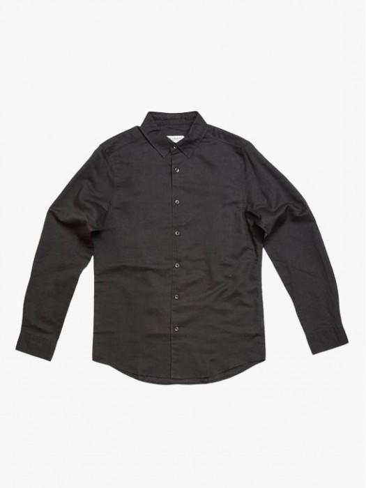 Gabba rella pirate black linen long sleeves shrt
