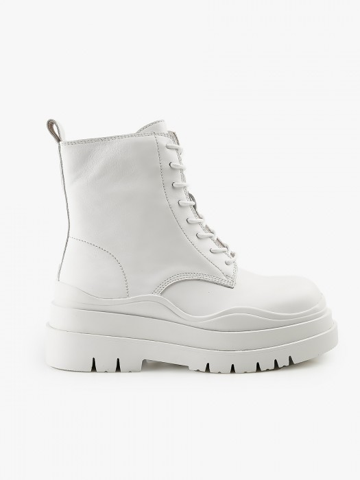 Jeffrey campbell upload white booties