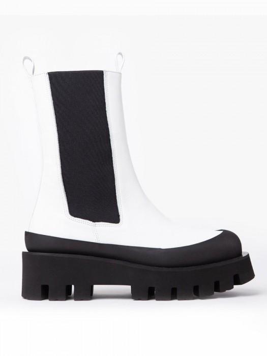 Paloma barcelo charlotta napasoft white boots