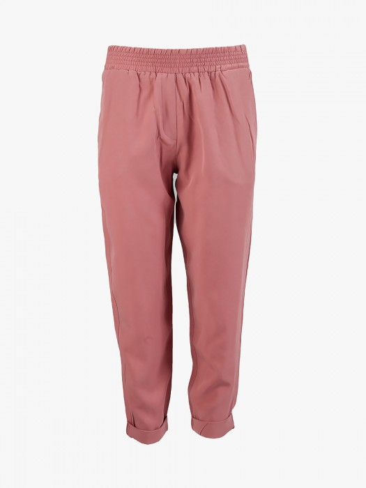 Philosophy pink tencel linen boyfriend pants