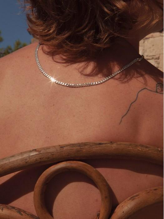 Hermina anchor silver chain