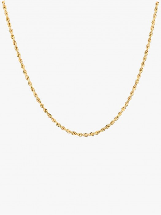 Hermina cord gold plated chain