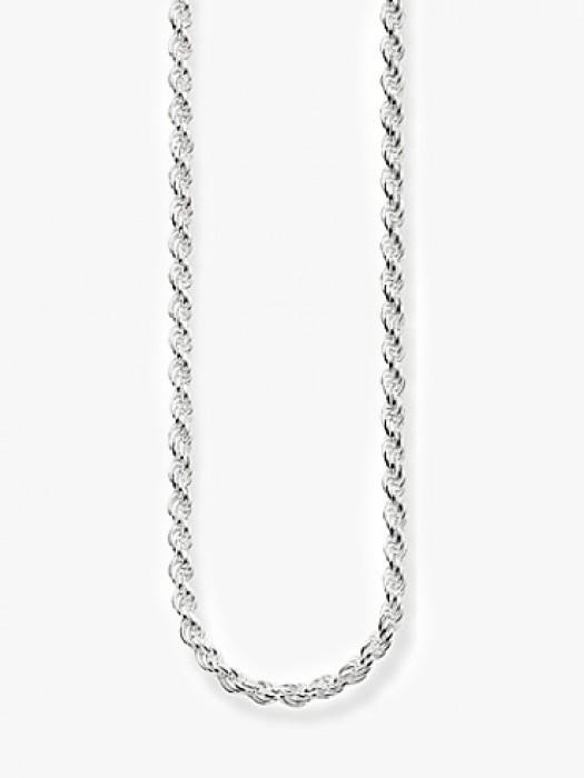 Hermina cord silver chain