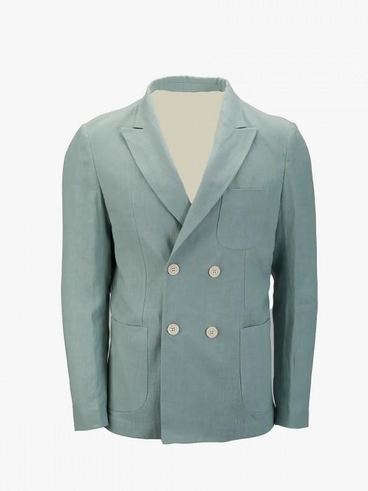 I'm brian double breast linen blazer