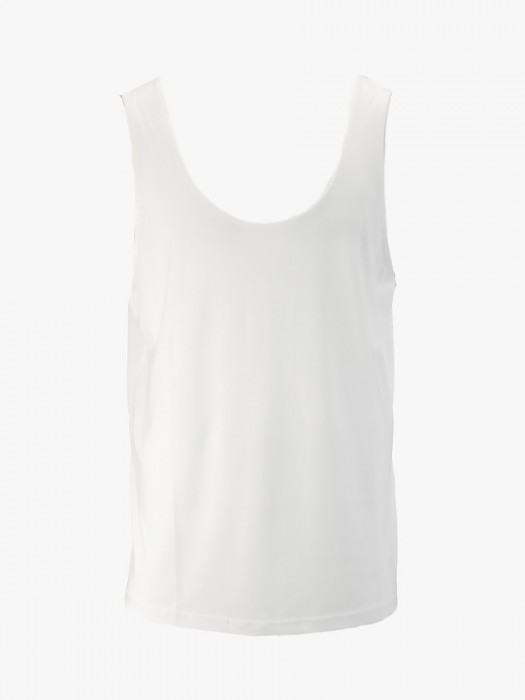 I'm brian white flamed cotton tank top