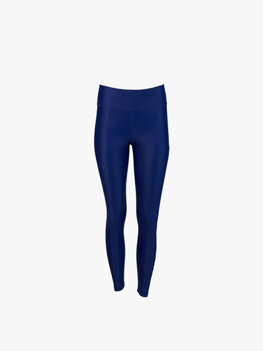 Baya blue vertical letters athletic leggings from recycled fabric