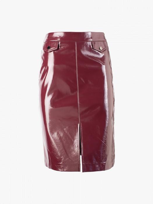 Suncoo vinyl effect leatherette skirt